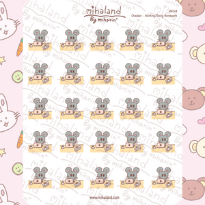 mihaland - Cheddar - Working/Doing Homework Planner Stickers (MF048)