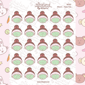 Miharin - Facial Time Planner Stickers (MF062)
