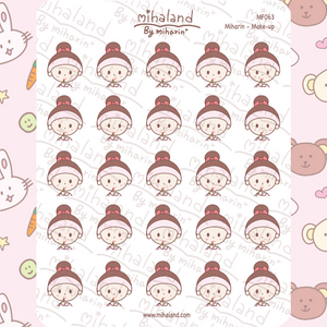 Miharin - Make-up Planner Stickers (MF063)