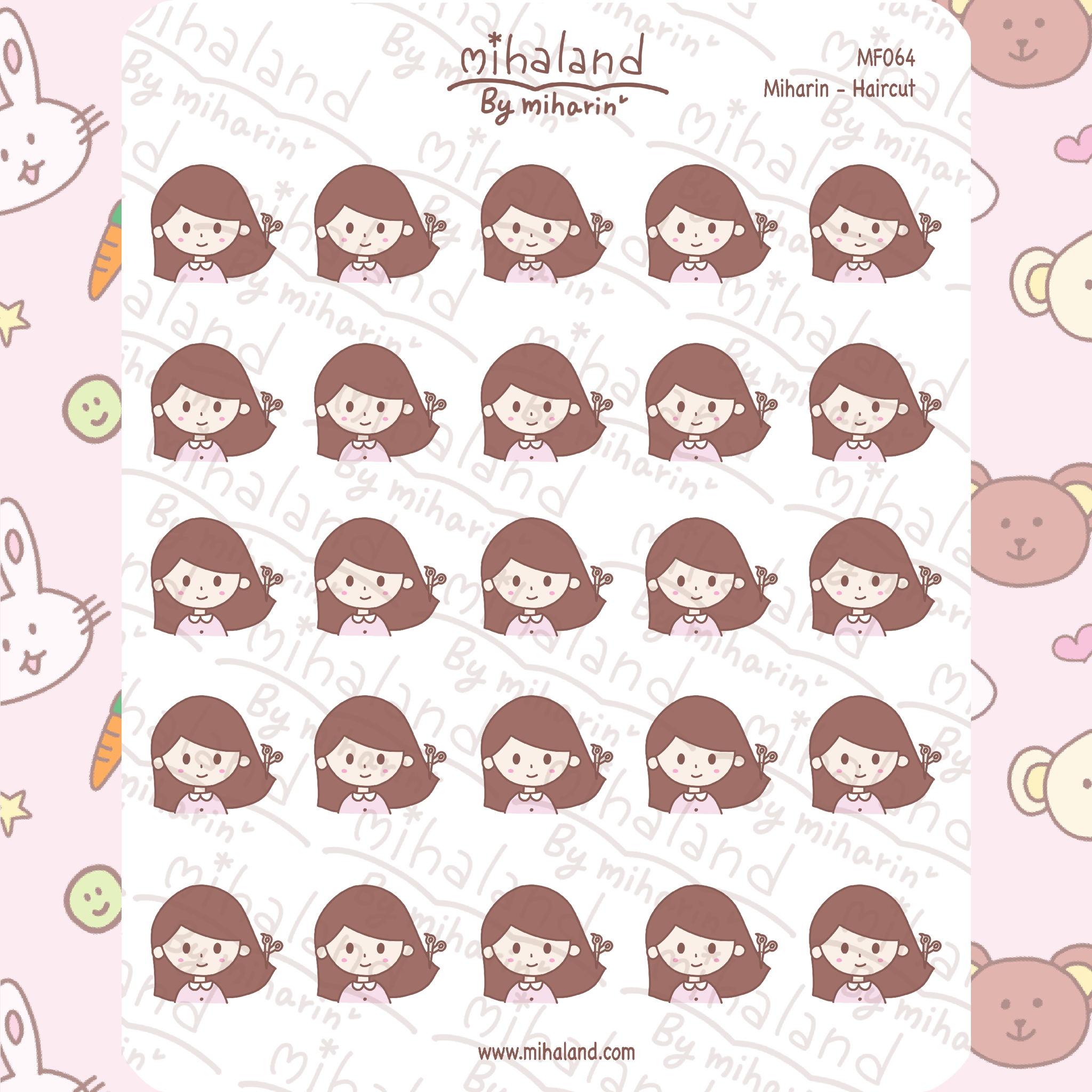 Miharin - Haircut Planner Stickers (MF064)