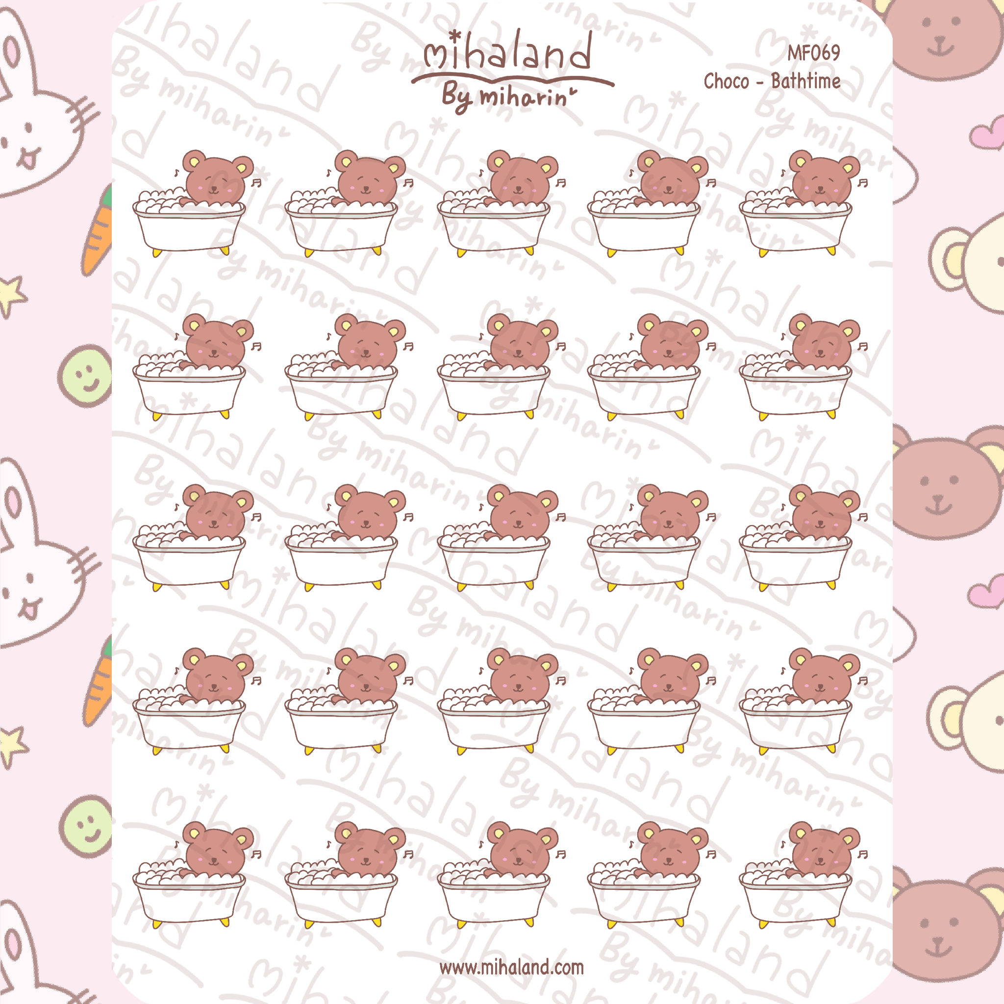 Choco - Bathtime Planner Stickers (MF069)