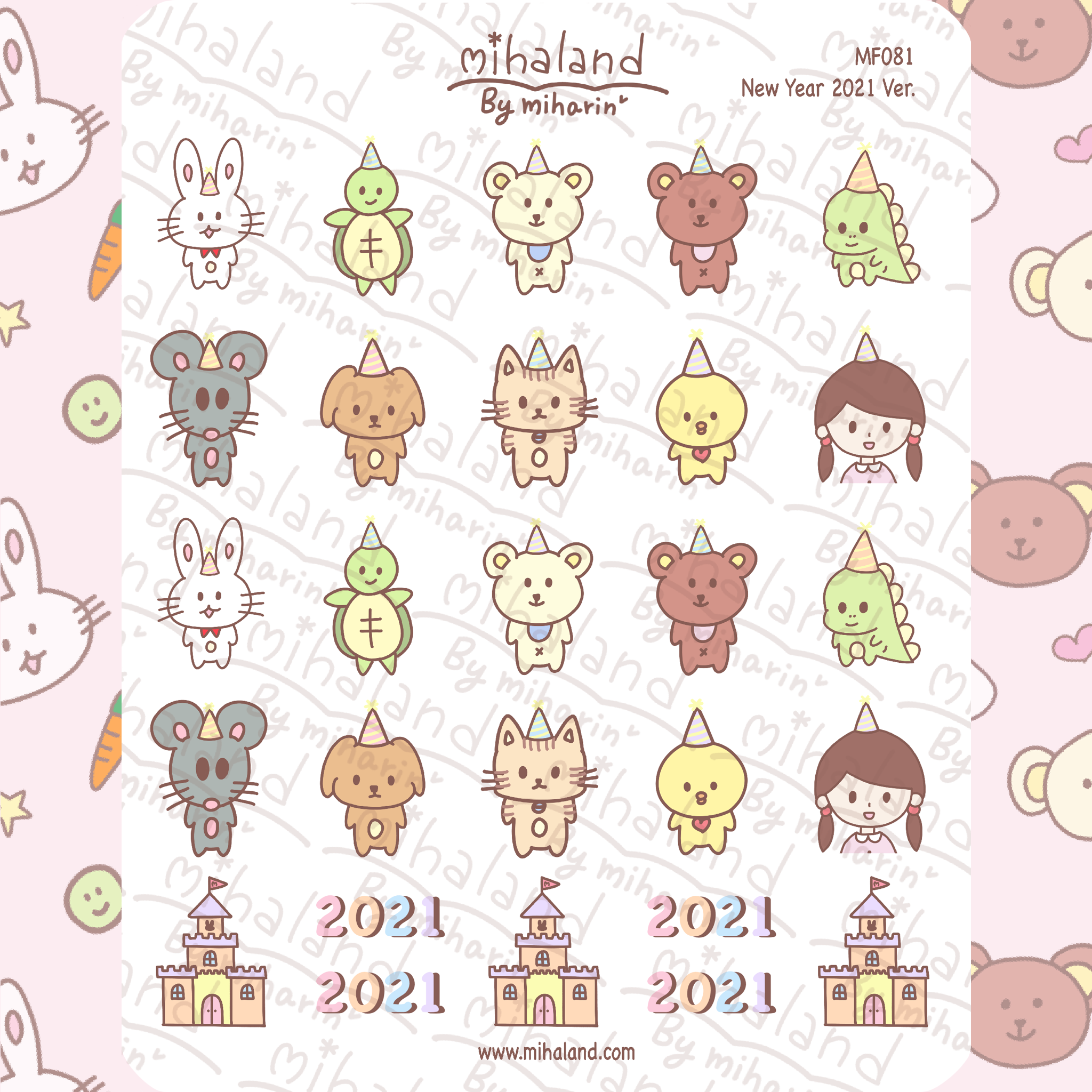 New Year 2021 Ver. Planner Stickers (MF081)