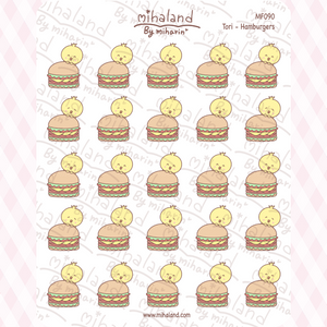 Tori - Hamburgers Planner Stickers (MF090)