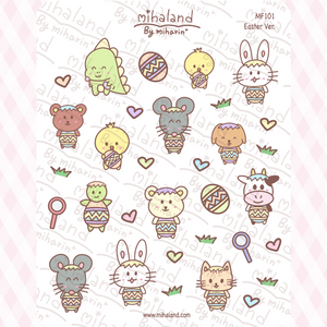 Easter Ver. Planner Stickers (MF101)