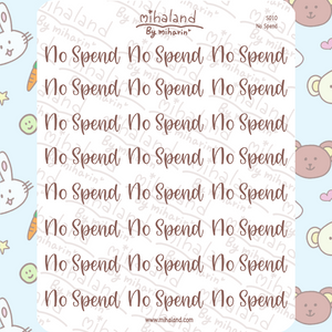 mihaland - No Spend Script Planner Stickers (S010)