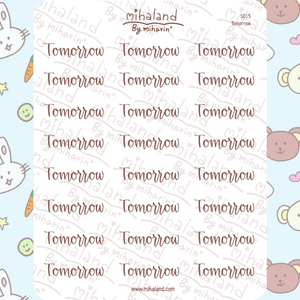 mihaland - Tomorrow Script Planner Stickers (S015)