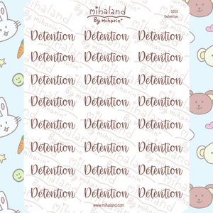 mihaland - Detention Script Planner Stickers (S020)