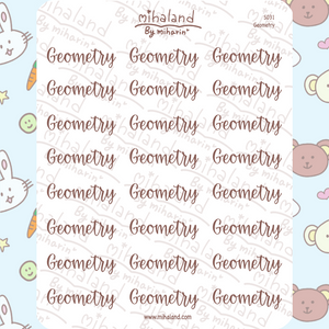 Geometry Script Planner Stickers (S031)