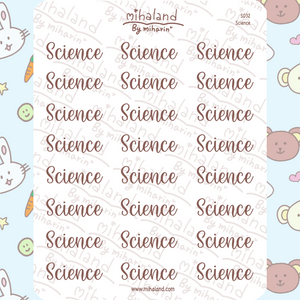 Science Script Planner Stickers (S032)