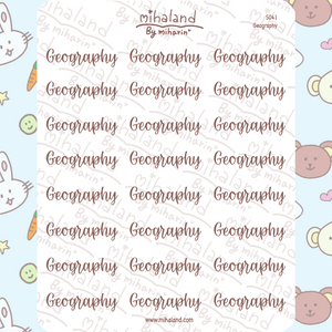 Geography Script Planner Stickers (S041)