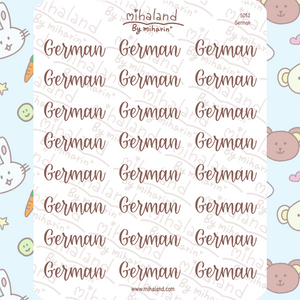 German Script Planner Stickers (S052)