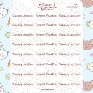 Summer Vacation Script Planner Stickers (S060)