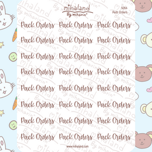 Pack Orders Script Planner Stickers (S066)