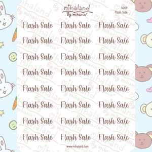 Flash Sale Script Planner Stickers (S069)