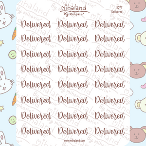 Delivered Script Planner Stickers (S077)