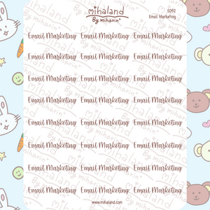 Email Marketing Script Planner Stickers (S092)