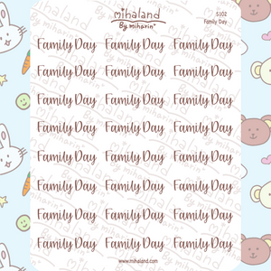 Family Day Script Planner Stickers (S102)