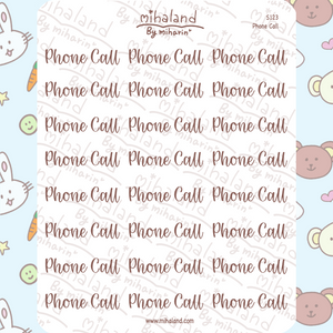 Phone Call Script Planner Stickers (S123)