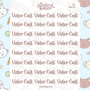 Video Call Script Planner Stickers (S124)