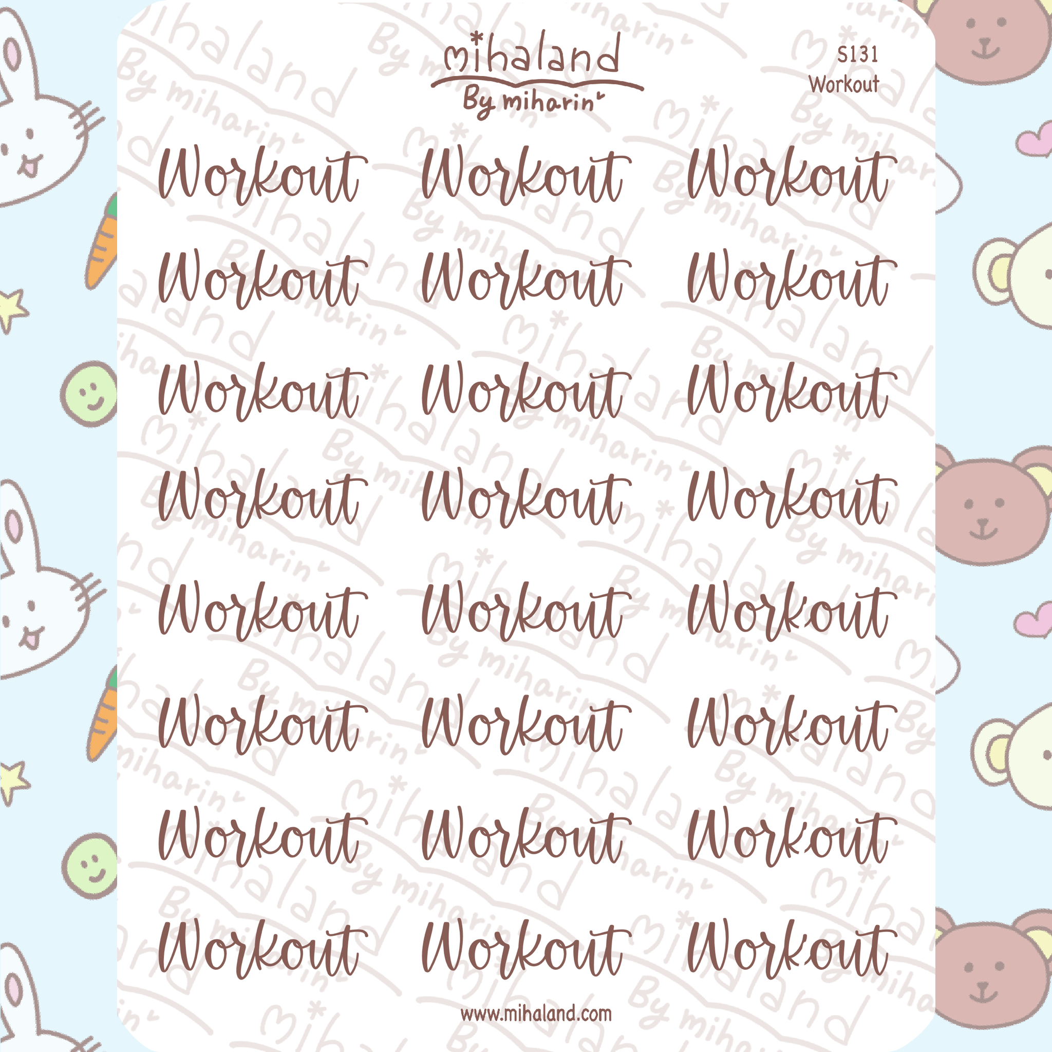 Workout Script Planner Stickers (S131)