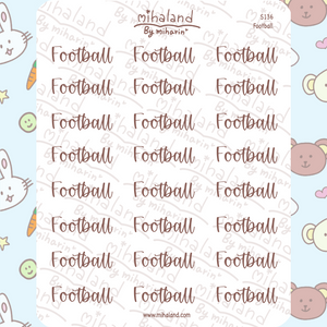 Football Script Planner Stickers (S136)