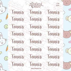 Tennis Script Planner Stickers (S138)