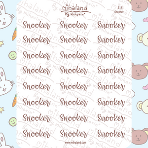 Snooker Script Planner Stickers (S141)