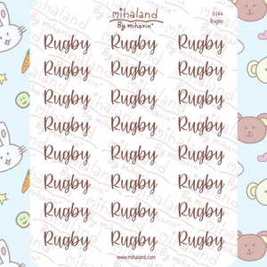Rugby Script Planner Stickers (S144)