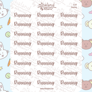 Running Script Planner Stickers (S149)