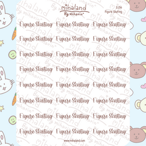 Figure Skating Script Planner Stickers (S156)