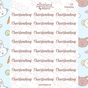 Cheerleading Script Planner Stickers (S157)