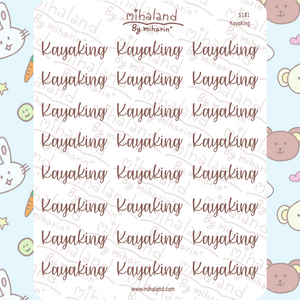 Kayaking Script Planner Stickers (S181)