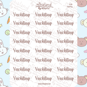 Yachting Script Planner Stickers (S184)