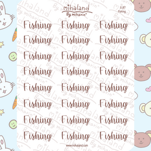 Fishing Script Planner Stickers (S187)