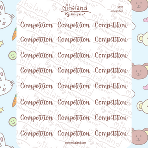 Competition Script Planner Stickers (S192)