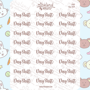 Day Shift Script Planner Stickers (S200)