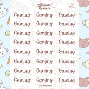 Gaming Script Planner Stickers (S205)