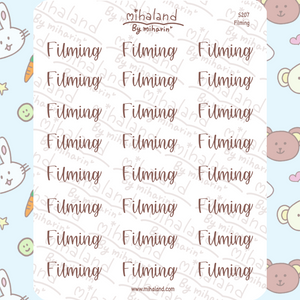 Filming Script Planner Stickers (S207)