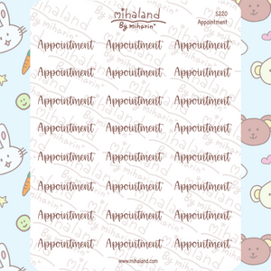 Appointment Script Planner Stickers (S220)