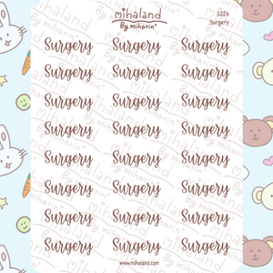 Surgery Script Planner Stickers (S226)