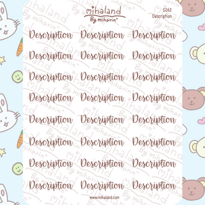 Description Script Planner Stickers (S262)