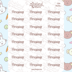 Housing Script Planner Stickers (S265)
