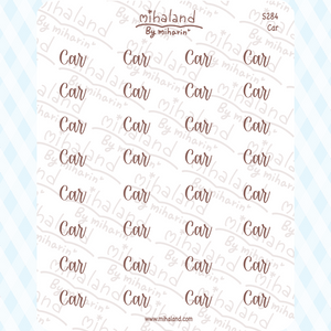 Car Script Planner Stickers (S284)