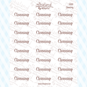 Cleaning Script Planner Stickers (S300)