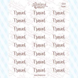 Travel Script Planner Stickers (S310)