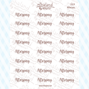 Afterpay Script Planner Stickers (S319)