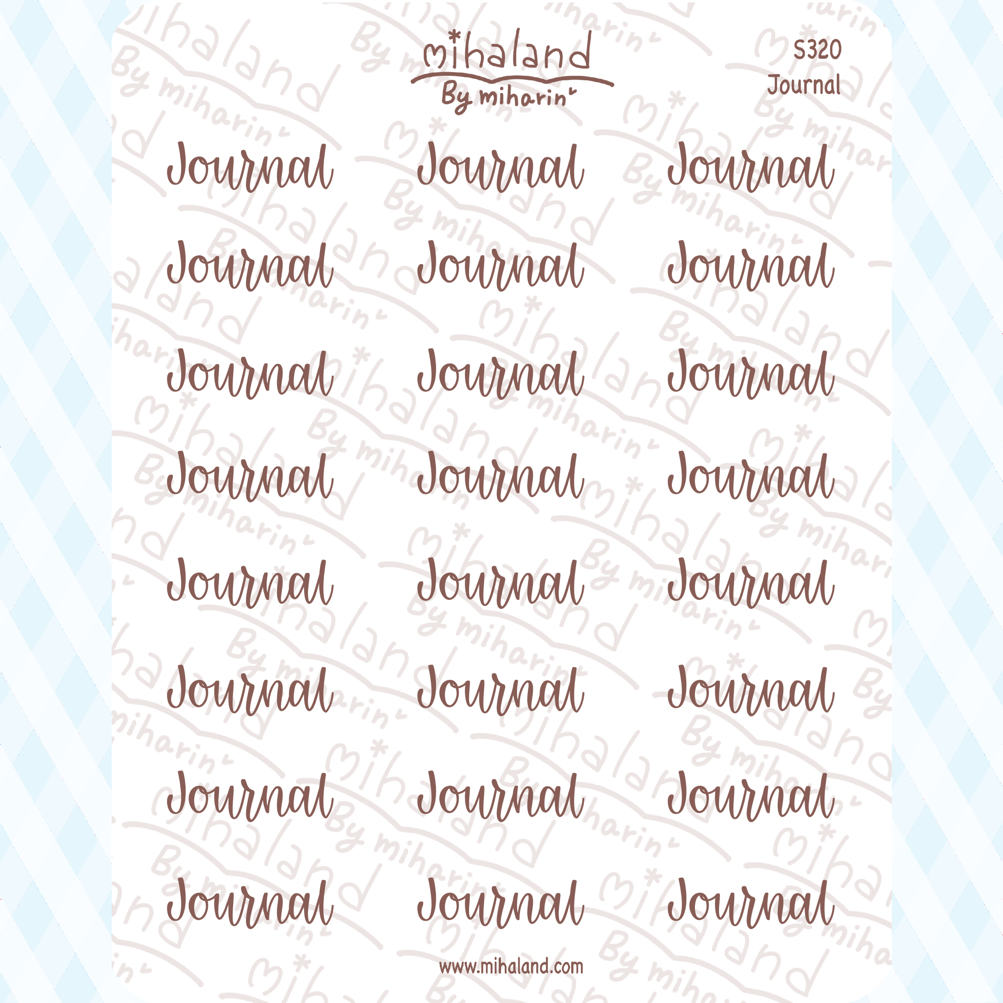 Journal Script Planner Stickers (S320)