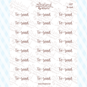 To-read Script Planner Stickers (S327)