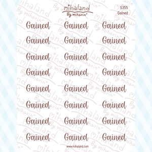Gained Script Planner Stickers (S355)