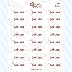 Training Script Planner Stickers (S357)